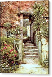 Under The Old Malthouse Hambledon Surrey Acrylic Print by Helen Allingham