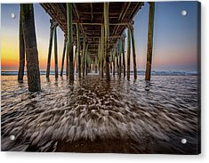 Acrylic Print featuring the photograph Under The Pier At Old Orchard Beach by Rick Berk