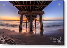 Acrylic Print featuring the photograph Under The Pier by Hans- Juergen Leschmann