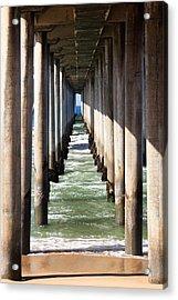 Under The Pier In Orange County California Acrylic Print by Paul Velgos