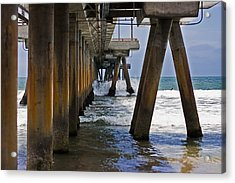 Acrylic Print featuring the photograph Under The Pier by Ron Dubin