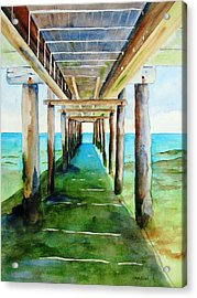 Under The Playa Paraiso Pier Acrylic Print