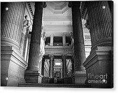 Acrylic Print featuring the photograph Under The Scaffolding Of The Palace Of Justice - Brussels by RicardMN Photography
