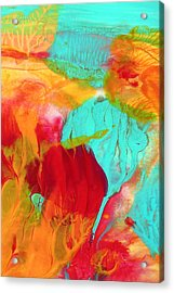 Under The Sea Abstract 5 Acrylic Print by Amy Vangsgard