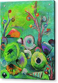 under the sea  - Orig painting for sale Acrylic Print