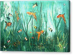 under the sea I Acrylic Print by Miroslaw  Chelchowski