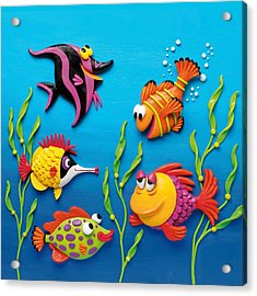 Under The Sea Square Acrylic Print