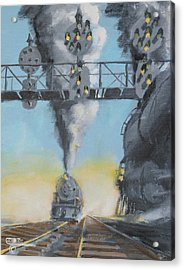 Morning On The Pennsylvania Railroad  Acrylic Print