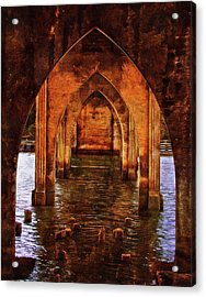Acrylic Print featuring the photograph Under The Siuslaw River Bridge by Thom Zehrfeld