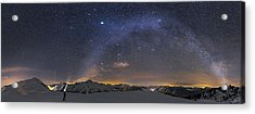 Under The Starbow Acrylic Print by Dr. Nicholas Roemmelt