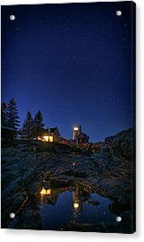 Under The Stars At Pemaquid Point Acrylic Print