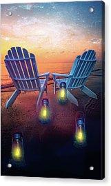 Under The Stars Acrylic Print by Debra and Dave Vanderlaan