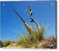 Under The Swordfish Harpooner Of Menemsha Acrylic Print by Mark Miller