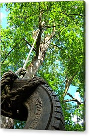 Under The Tire Swing Acrylic Print by Ken Day