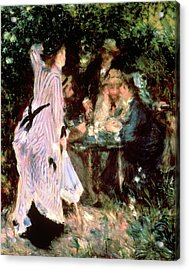 Under The Trees Of The Moulin De La Galette Acrylic Print by Pierre Auguste Renoir