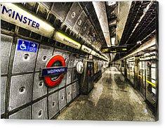 Underground London Art Acrylic Print by David Pyatt