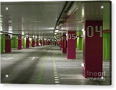 Underground Parking Lot Acrylic Print by Gaspar Avila