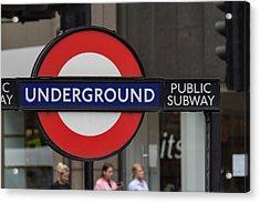Underground Sign London Acrylic Print