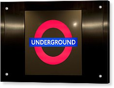 Underground Sign Acrylic Print by Svetlana Sewell