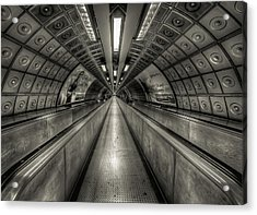 Underground Tunnel Acrylic Print by Vulture Labs