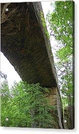 Underneath Natural Bridge In Slade Kentucky Acrylic Print