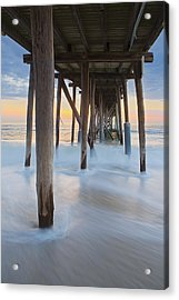 Underneath The Pier At The Jersey Shore  Acrylic Print