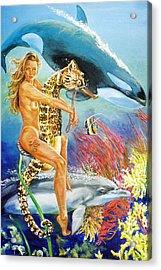 Undersea Fantasy Acrylic Print by Bryan Bustard