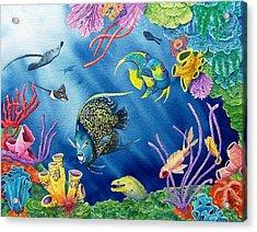 Undersea Garden Acrylic Print by Gale Cochran-Smith