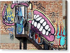 Underteeth The Stairs Acrylic Print by Jez C Self