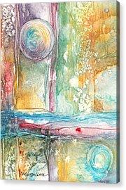 Undertow Acrylic Print by Casey Rasmussen White