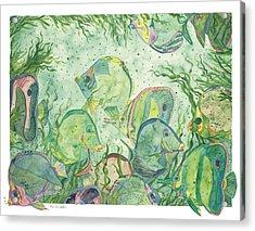 Underwater Colors Acrylic Print