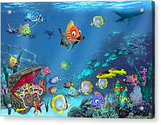 Underwater Fantasy Acrylic Print by Doug Kreuger