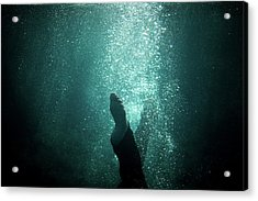 Underwater Foot Acrylic Print