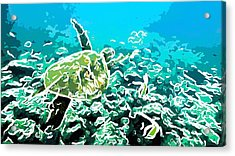 Underwater Landscape 1 Acrylic Print by Lanjee Chee