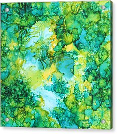 Underwater Map Acrylic Print