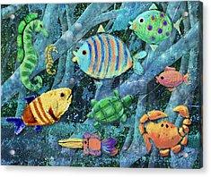Underwater Maze Acrylic Print by Arline Wagner