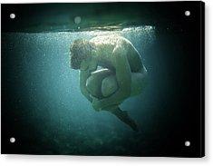 Underwater Rock Acrylic Print