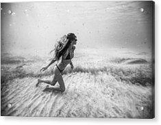 Underwater Sandstorm Acrylic Print by One ocean One breath