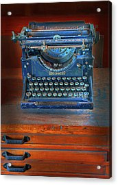 Acrylic Print featuring the photograph Underwood Typewriter by Dave Mills