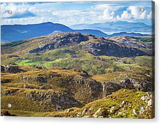 Undulating Landscape In Kerry In Ireland Acrylic Print by Semmick Photo
