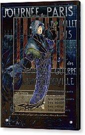 Une Valentine Parisienne Acrylic Print by Sarah Vernon