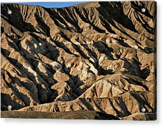 Unearthly World - Death Valley's Badlands Acrylic Print by Christine Till