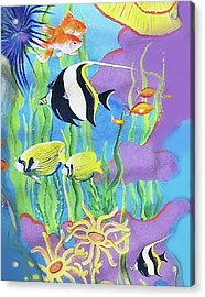 Under The Sea Acrylic Print by Janis Grau