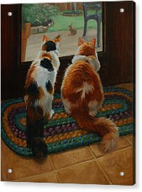 Unexpected Guest Acrylic Print by Vicky Gooch
