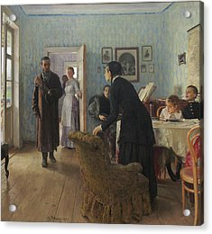 Unexpected Visitors Acrylic Print by Ilya Repin