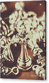 Unfallen Tower Of The Chess Game Acrylic Print