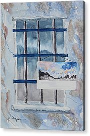 Unfinished Life Unfinished Painting 2 Acrylic Print by Warren Thompson