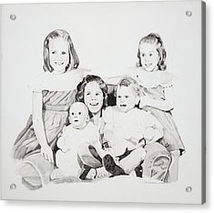 Unfinished Sisters Acrylic Print