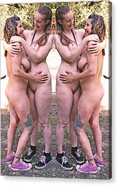Unfold To Two Four 2014 Acrylic Print