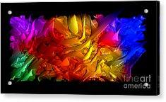 Acrylic Print featuring the digital art Unfolding Dream by Rafael Salazar